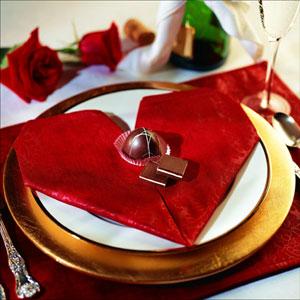 Heart shaped napkin fold for valentine s day seasons blog